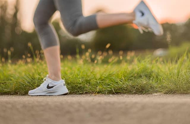 Grote passen tijdens hardlopen
