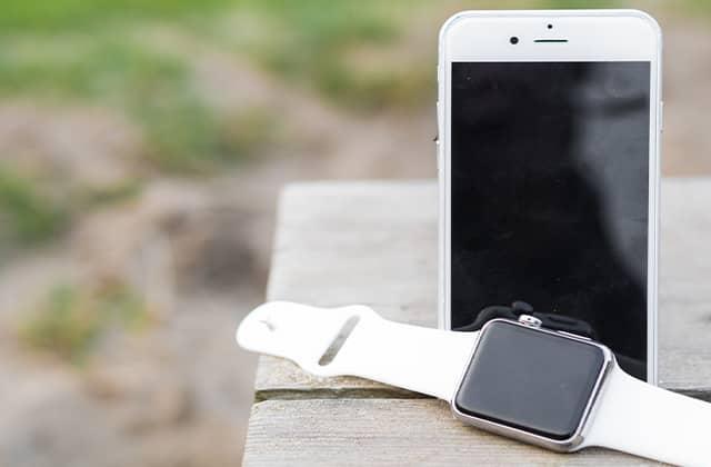Smartwatch met smartphone