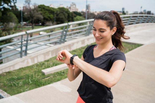 lopen met sporthorloge